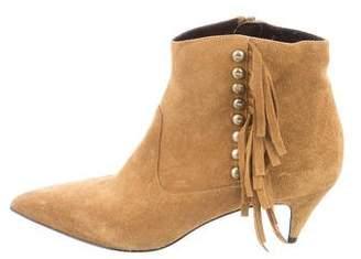 Saint Laurent Fringe-Trimmed Ankle Boots