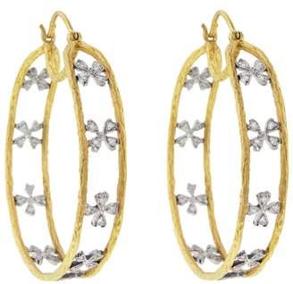 Cathy Waterman Wildflower Branch Hoop Earrings
