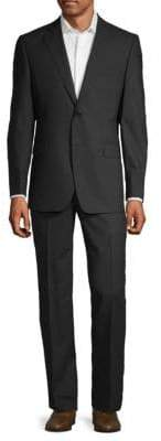 Saks Fifth Avenue Checkered Wool Suit