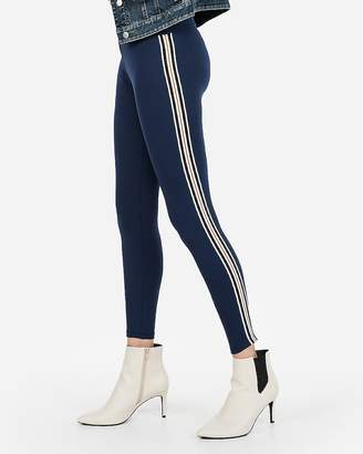 Express High Waisted Side Stripe Supersoft Leggings