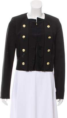 Marchesa Voyage Double-Breasted Pleated Jacket
