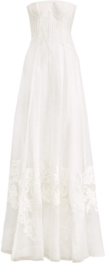 Ralph Lauren Tamia Embroided Silk Gown