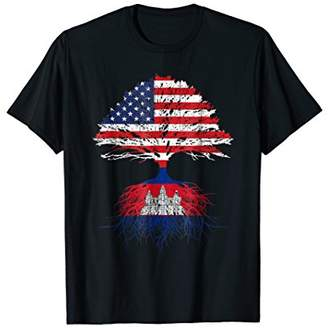 Cambodian Roots American Grown Cambodia Flag T-shirt Gift