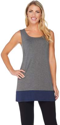Logo By Lori Goldstein LOGO Layers by Lori Goldstein Knit Tank with Contrast Bottom Hem