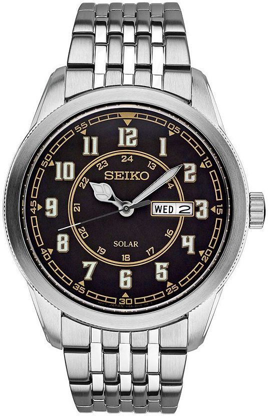 SeikoSeiko Men's Recraft Stainless Steel Solar Watch - SNE445
