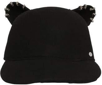 Karl Lagerfeld Choupette Cat Ears Wool Hat W/ Piercings