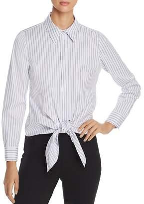Elie Tahari Katarina Striped Tie-Front Shirt - 100% Exclusive