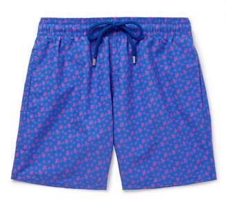 Vilebrequin Moorea Mid-Length Printed Swim Shorts - Men - Navy