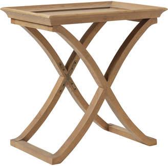 OKA Avignon Weathered Oak Side Table - Wood