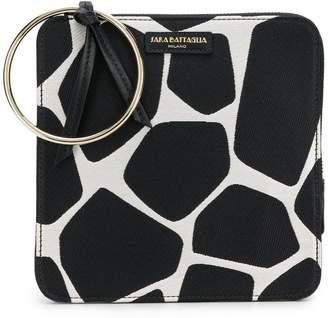 Sara Battaglia giraffe print bracelet bag