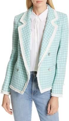 Helene Berman Fringe Trim Tweed Jacket