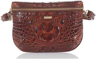 Brahmin Croc Embossed Leather Belt Bag