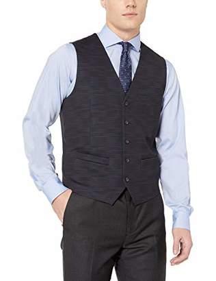 Perry Ellis Men's Print Suit Vest with Stretch
