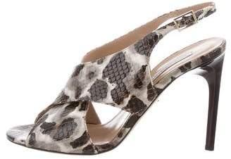 Diane von Furstenberg Animal Print Slingback Sandals
