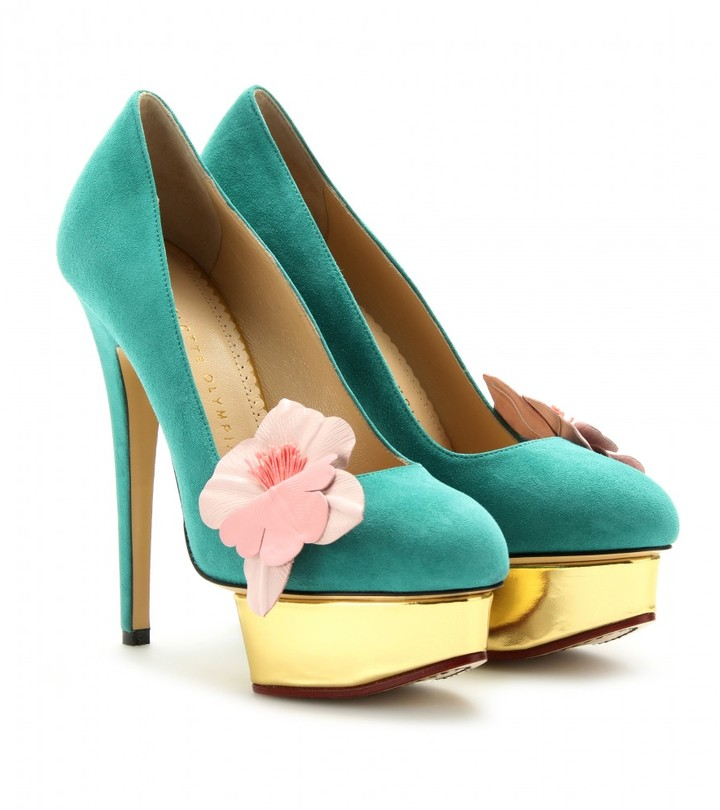 Charlotte Olympia DOLLY ORCHID PLATFORM PUMPS