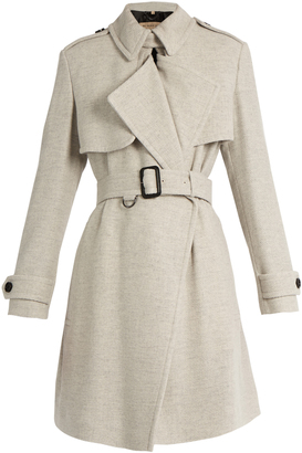 BURBERRY LONDON Leveson cashmere trench coat $1,857 thestylecure.com