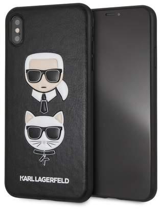 Karl Lagerfeld Black PU Embossed Hard iPhone XS Max Case