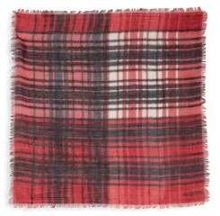 Valentino Plaid Cashmere, Silk & Wool Square Scarf