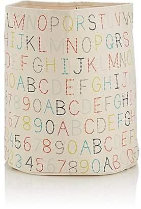 Petit Pehr Alphabet-Print Large Bin
