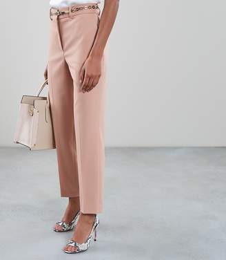 Reiss LILLI TAPERED TAILORED TROUSERS Apricot