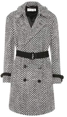 Saint Laurent Herringbone wool coat