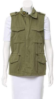 Zadig & Voltaire Zip-Up Cargo Vest