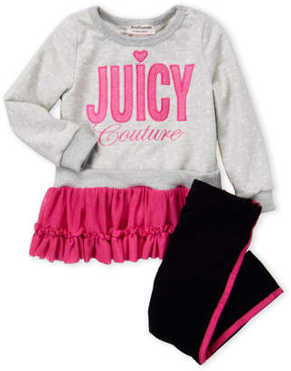 Juicy Couture Toddler Girls) Two-Piece Sweatshirt and Leggings Set