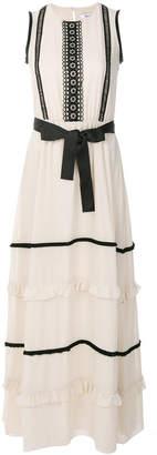 Blugirl front bow maxi dress