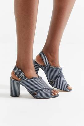 Urban Outfitters Striped Denim Fringe Heel