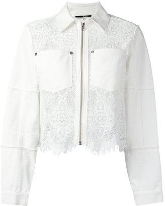 Hybrid lace denim jacket