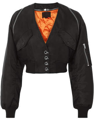 Alexander Wang V-Neck Cropped Bomber Jacket