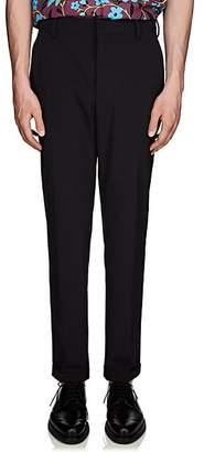 Prada Men's Cotton Twill Cuffed Trousers - Navy