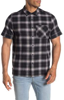 OVADIA AND SONS Short Sleeve Plaid Print Relaxed Fit Camp Shirt