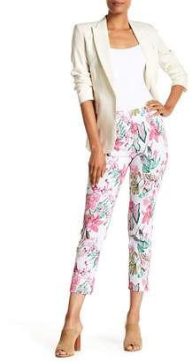 Insight Printed Techno Mock Fly Ankle Pants