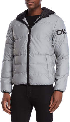 DKNY Hooded Logo Puffer Jacket