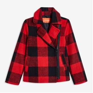 Joe Fresh Kid Girls' Buffalo Plaid Jacket, Bright Red (Size XL)