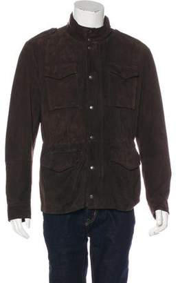 Brunello Cucinelli Hooded Leather Utility Jacket