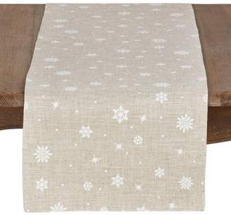 The Holiday Aisle Bautista Snowflake Christmas Table Runner
