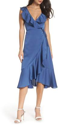 Fame & Partners The Alexa Ruffle Wrap Dress