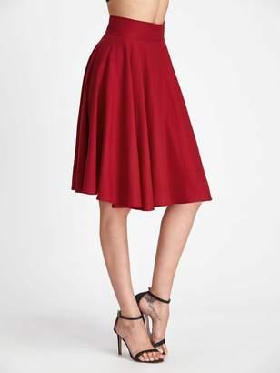 Shein High Rise Wide Waistband Circle Skirt