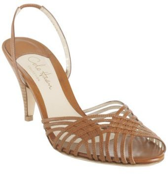 Cole Haan brown leather 'Amina Sling' sandals