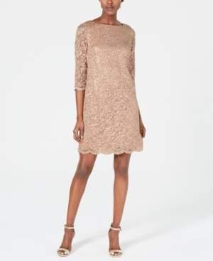 Jessica Howard Sequin & Lace Sheath Dress