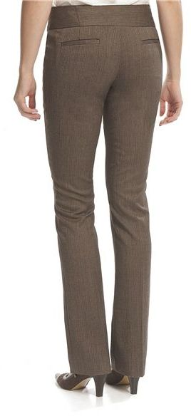Amanda + Chelsea Herringbone Barely Boot Pants - Low Rise (For Women)