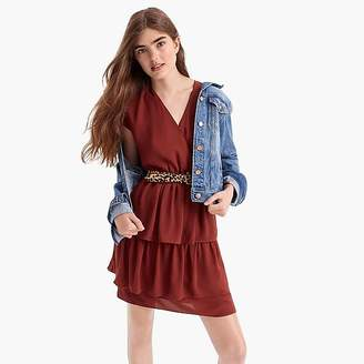 Point Sur tiered ruffle mini dress