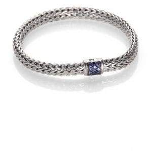 John Hardy Classic Chain Sapphire & Sterling Silver Small Bracelet