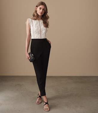 Reiss Suzy Lace Detail Jumpsuit