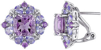 FINE JEWELRY Genuine Amethyst and Tanzanite Sterling Silver Earrings