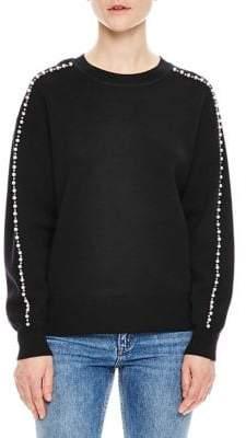 Sandro Bead Sleeve Sweater