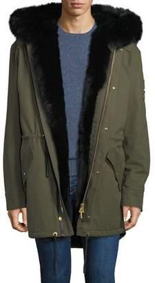 Moose Knuckles Men's Steller Fur-Lined Parka Coat