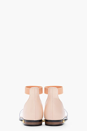 Givenchy Pale pink leather Robertha podium sandals